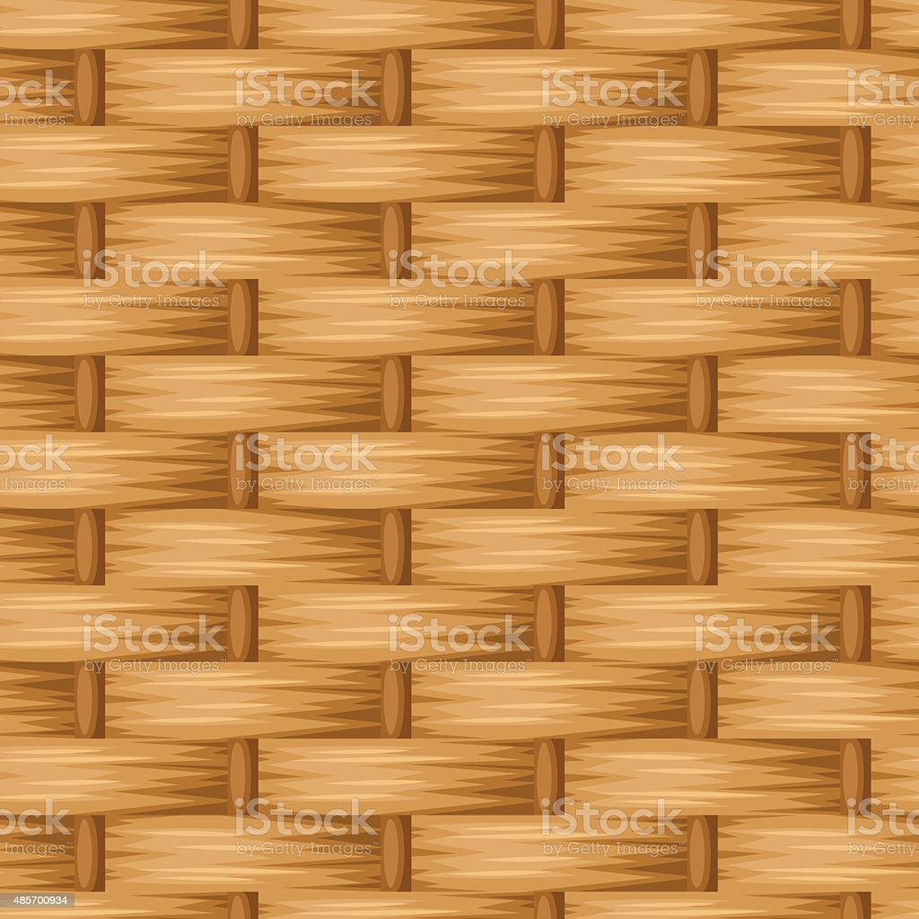 Brown wicker texture. Vector seamless background. vector art illustration