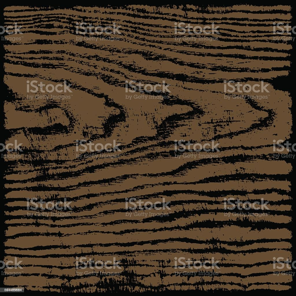 Brown wood texture background in square format vector art illustration