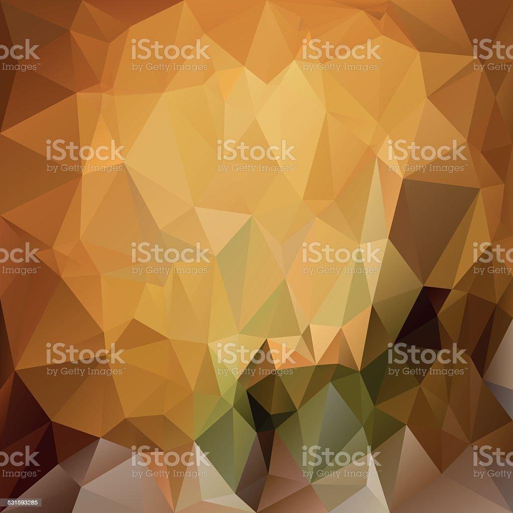 brown yellow polygonal triangular pattern background vector art illustration