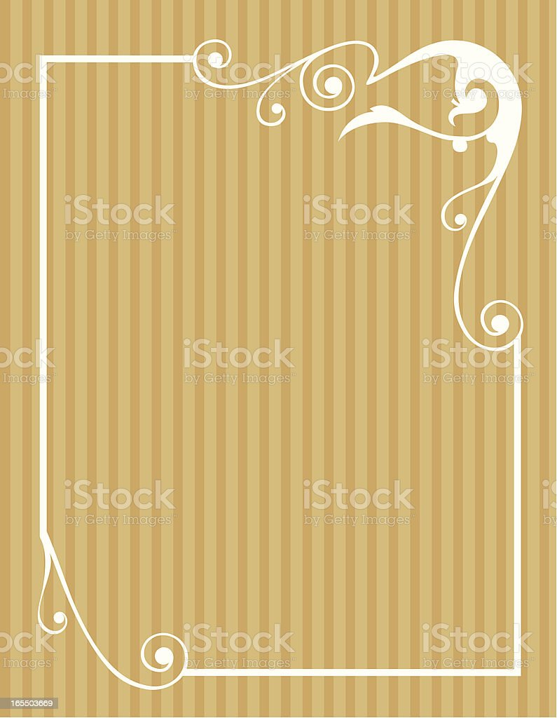 brown_patterned_frame royalty-free stock vector art
