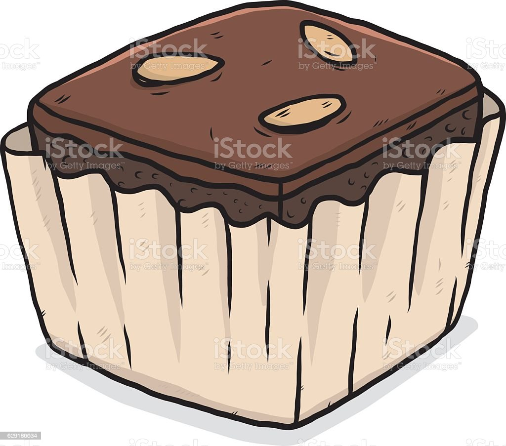 brownie vector art illustration
