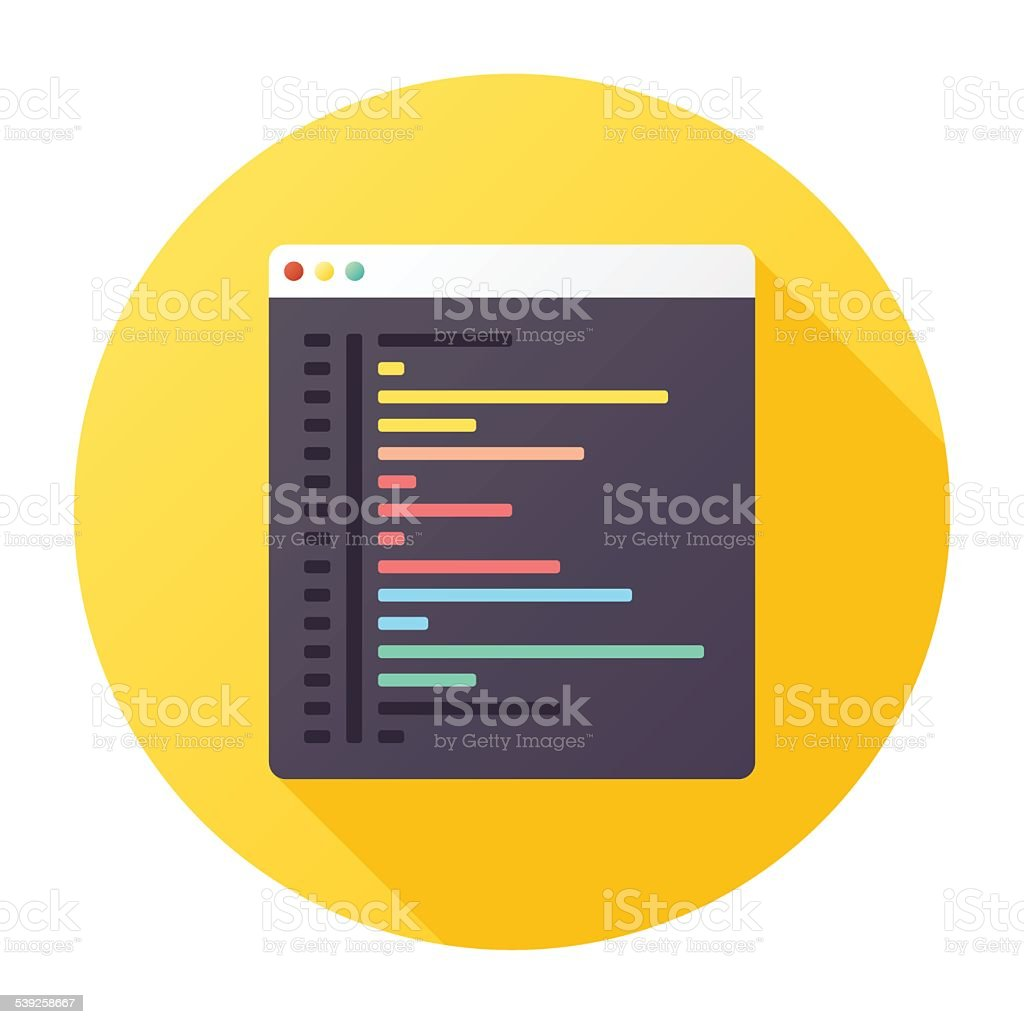 Browser Coding Icon vector art illustration