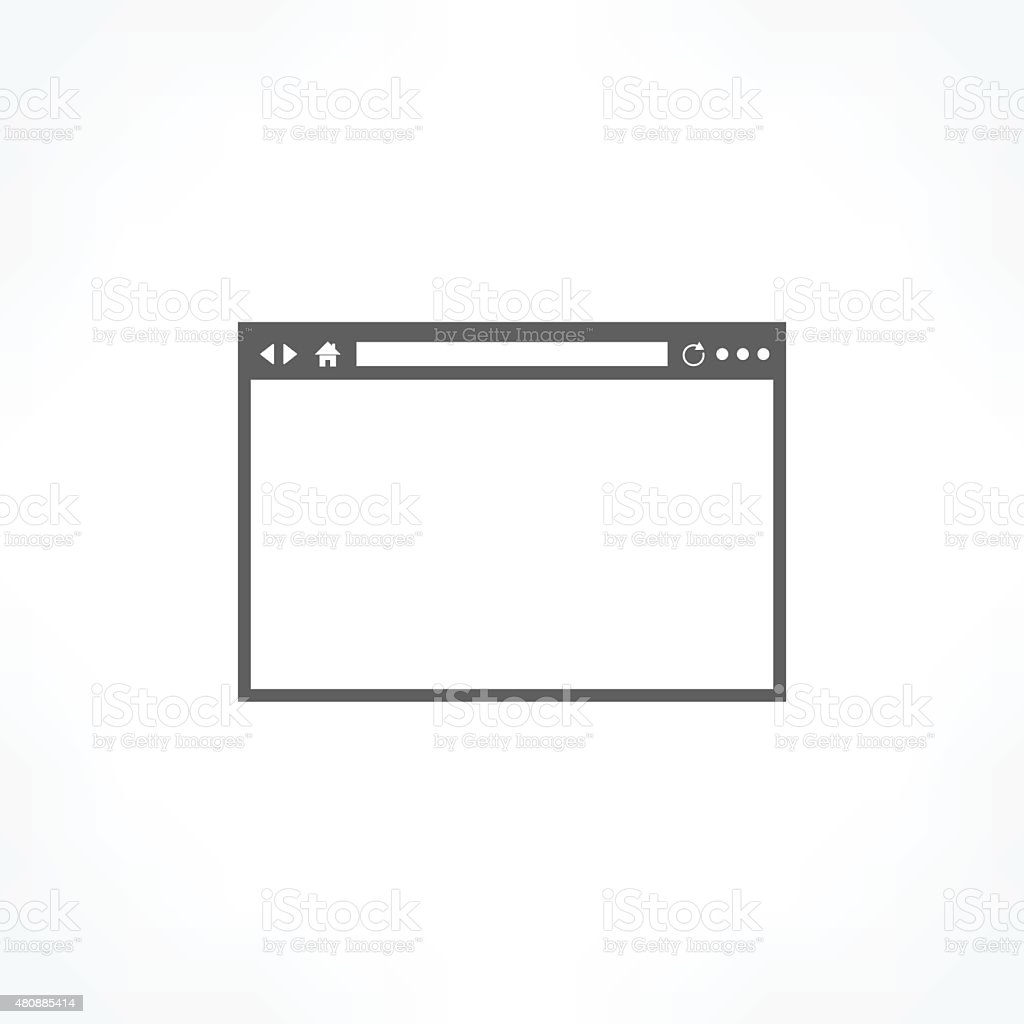 browser icon vector art illustration