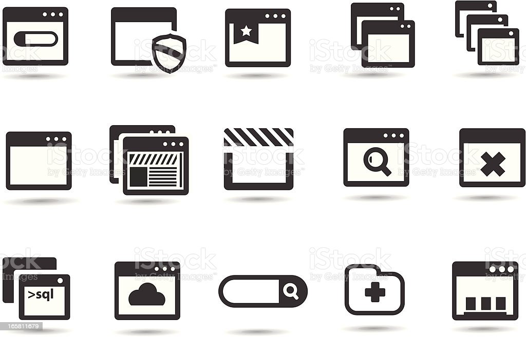 Browser Icons vector art illustration