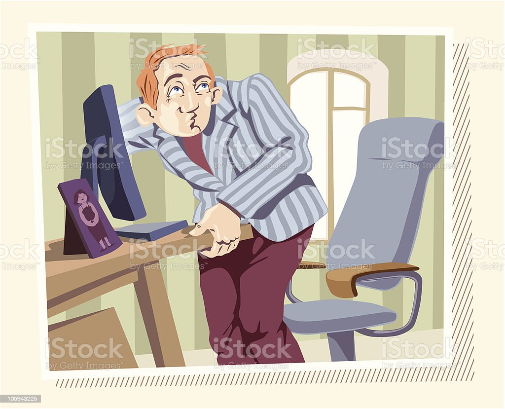 Browsing the Internet royalty-free stock vector art