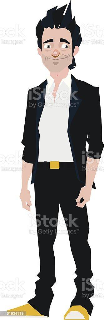 Brunette man royalty-free stock vector art