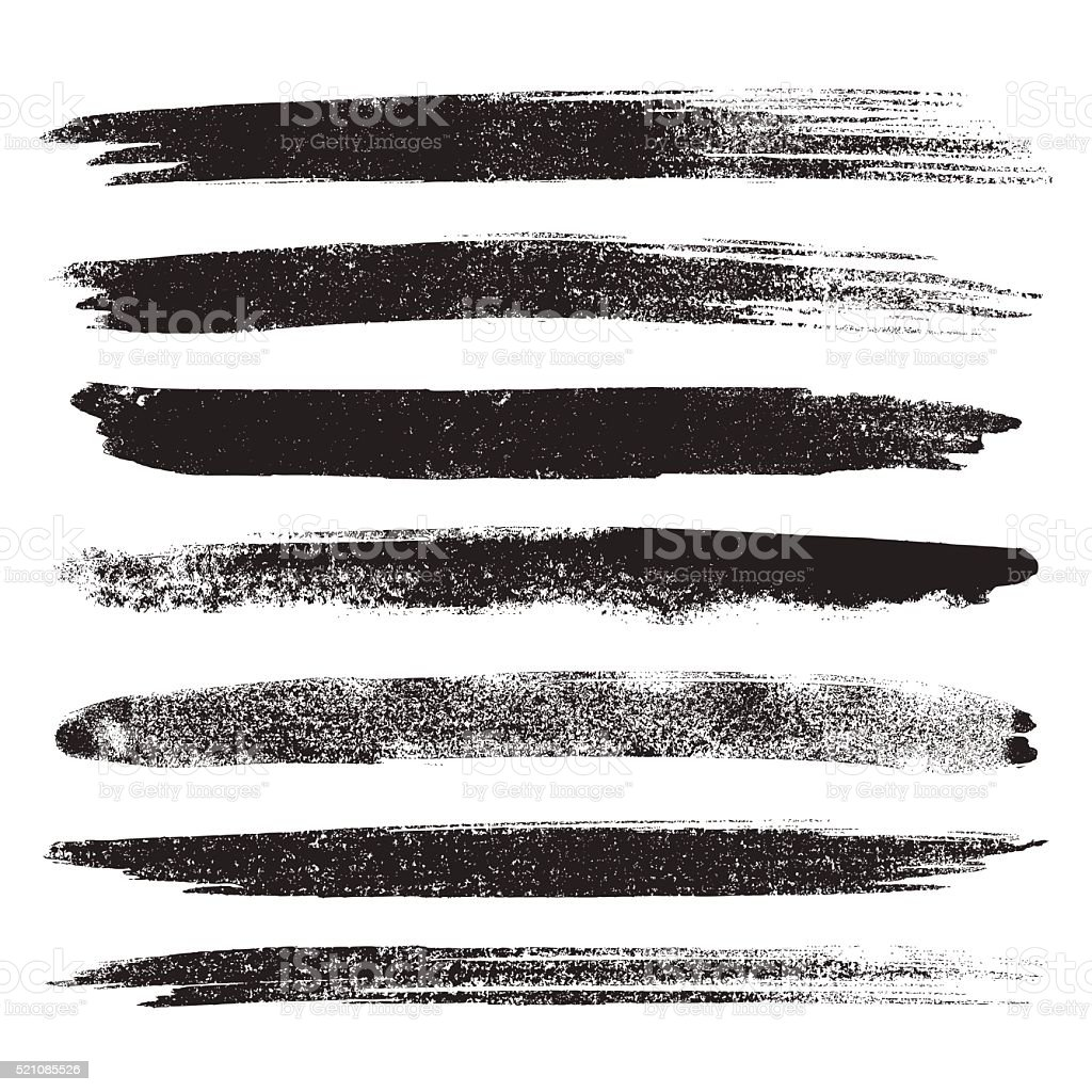 Brush ink set vector art illustration