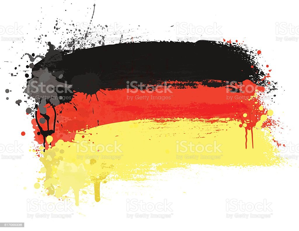 Brush painted abstract flag of Germany vector art illustration