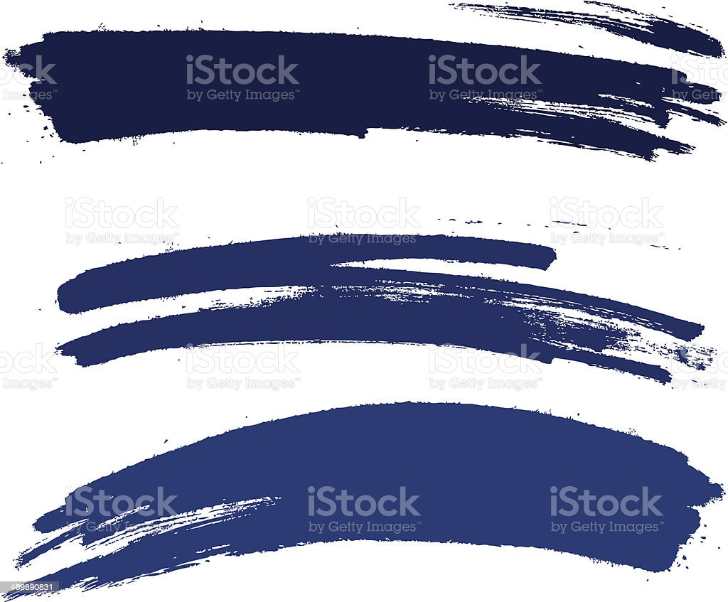 brush stroke set vector art illustration