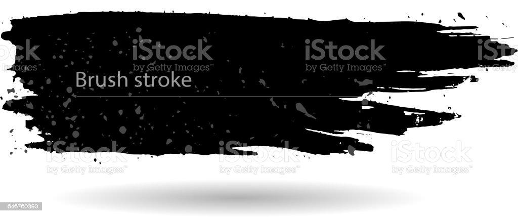 Brush stroke sign vector art illustration
