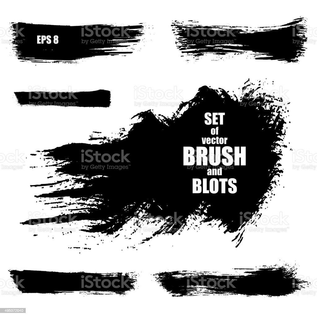 Brush stroke vector illustration vector art illustration