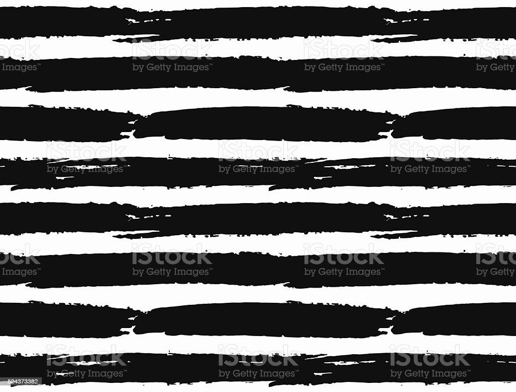Brush Strokes Striped Pattern vector art illustration