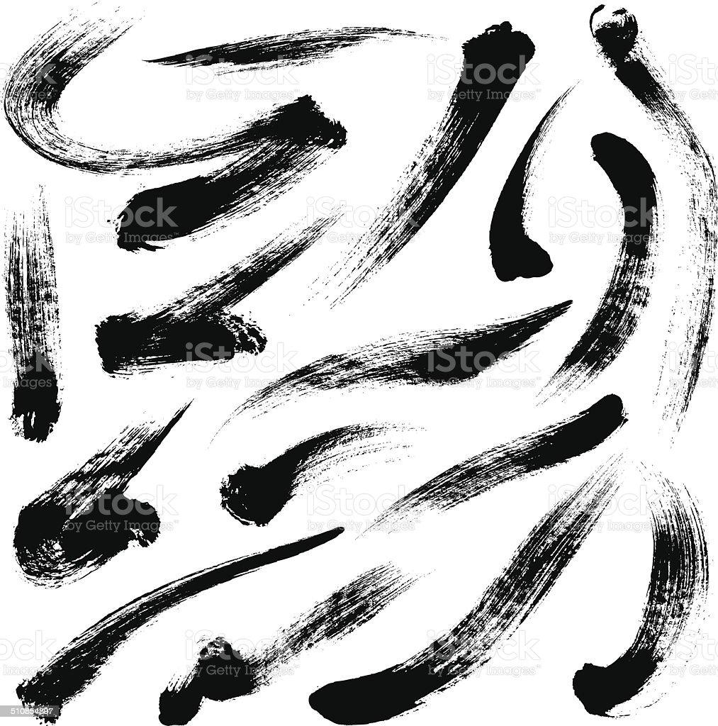 Brush Strokes vector art illustration