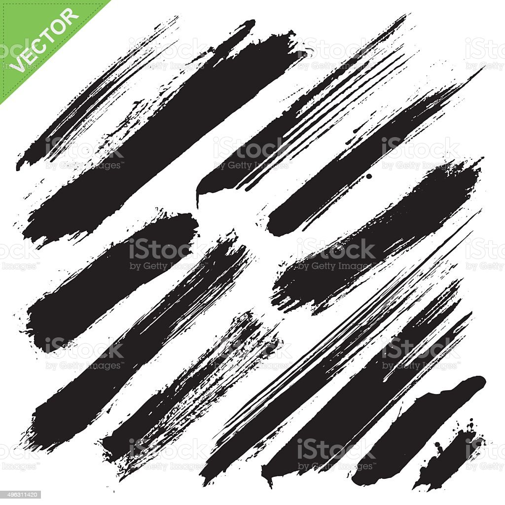 brush strokes vector vector art illustration