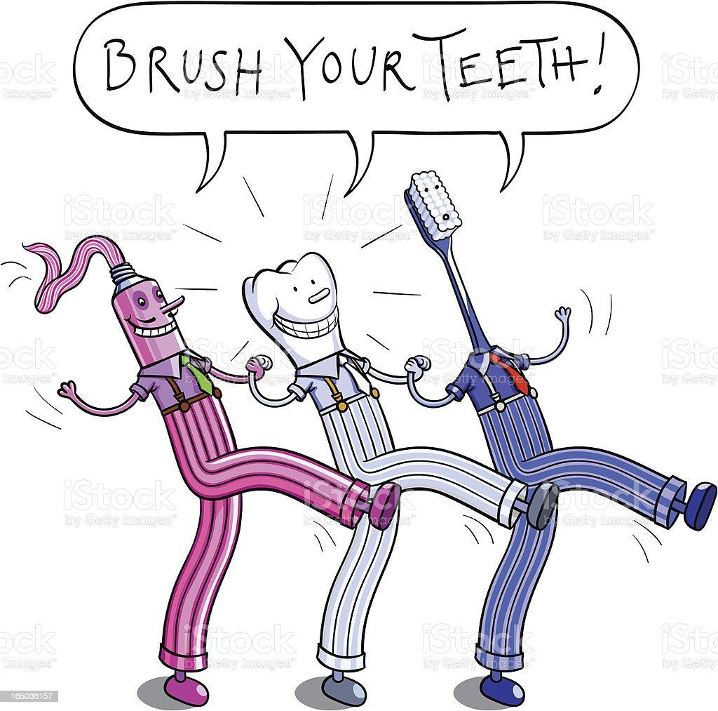 Brush your teeth! royalty-free stock vector art