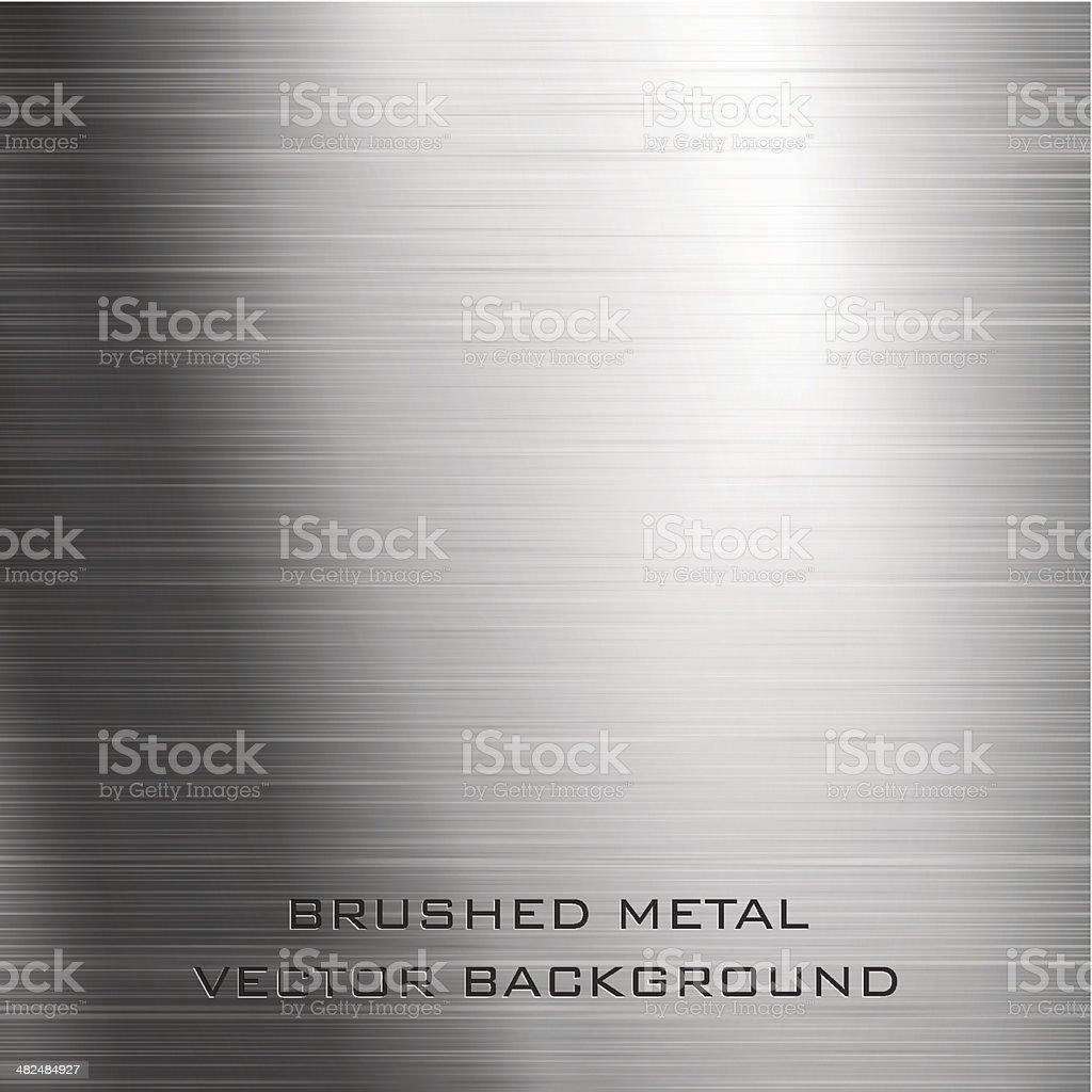 Brushed metal vector art illustration