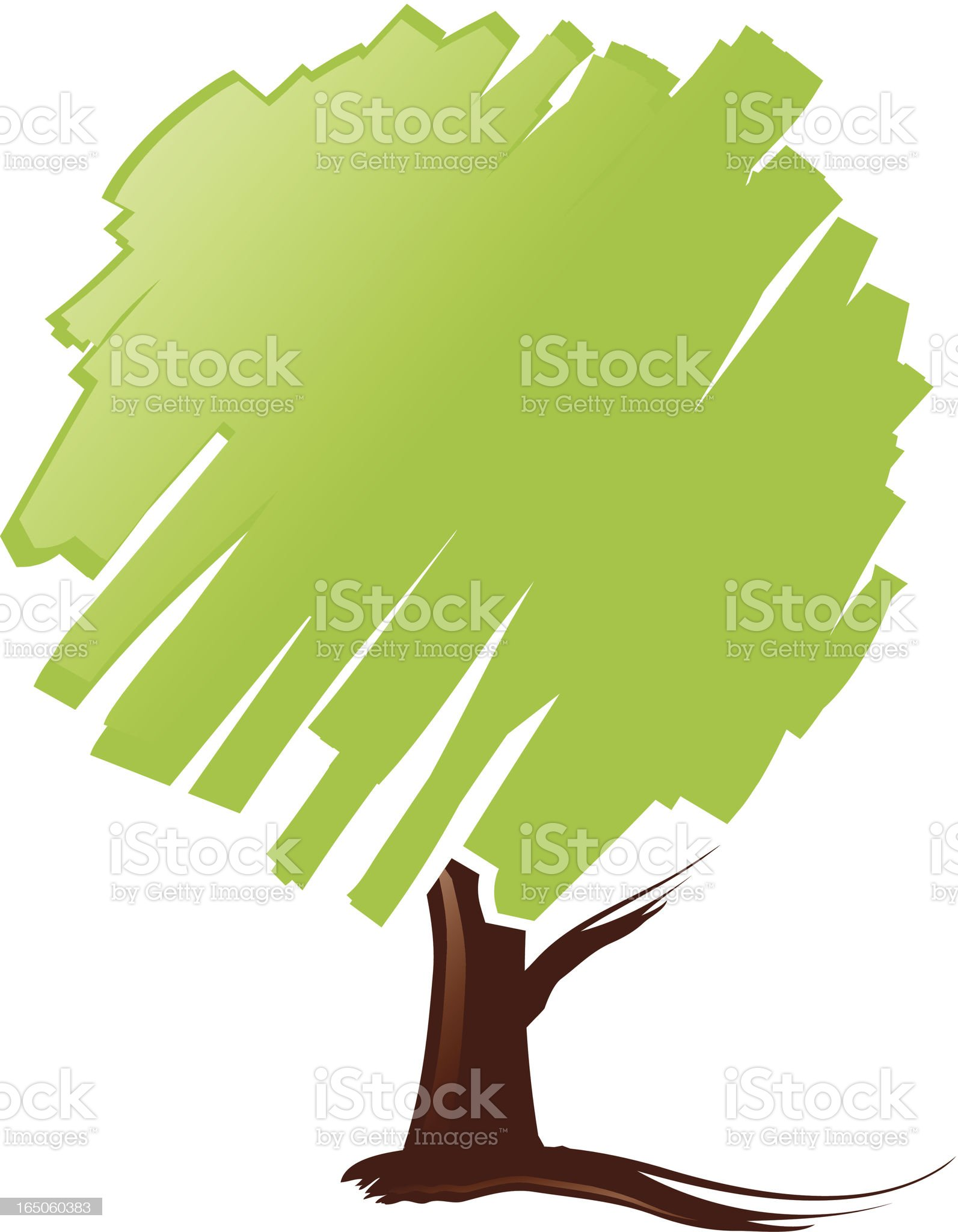 Brushed Tree royalty-free stock vector art