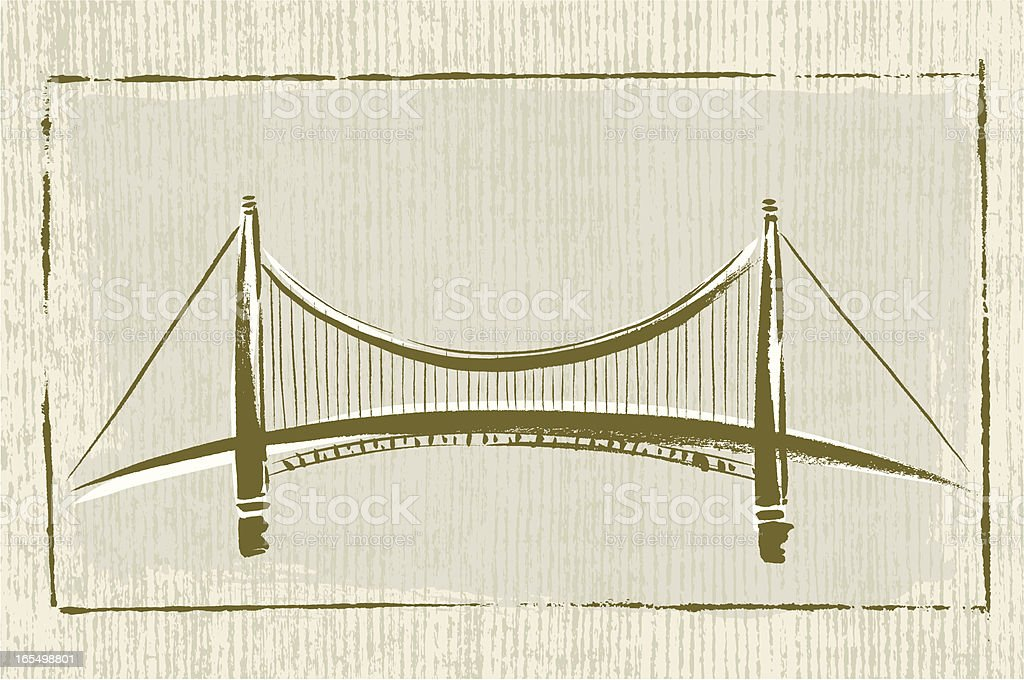 Brushstroke Bridge royalty-free stock vector art