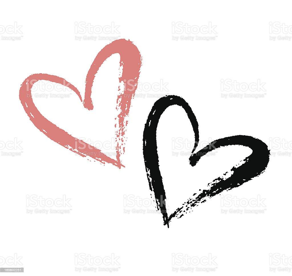 Brushstroke Heart royalty-free stock vector art