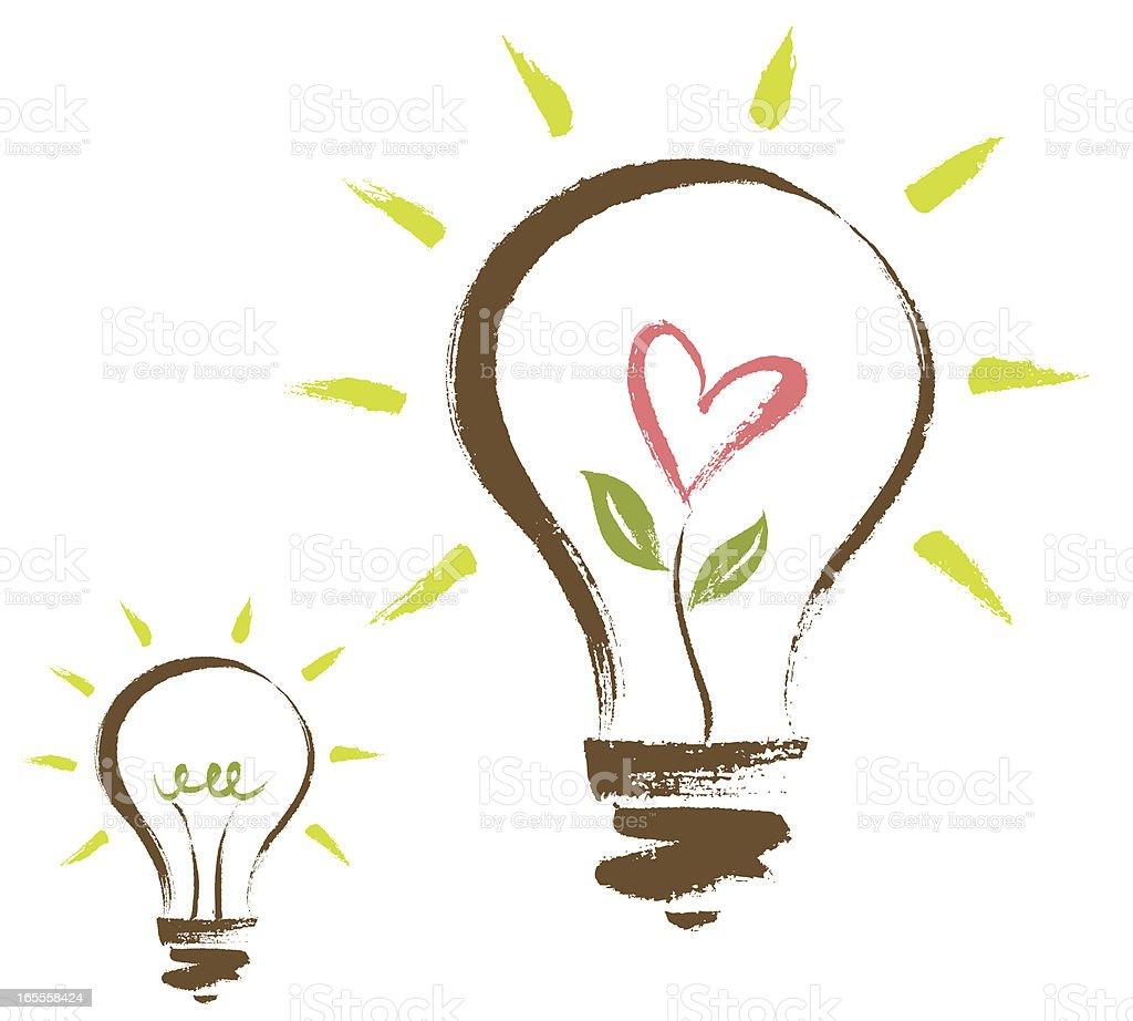Brushstroke Light Bulb royalty-free stock vector art
