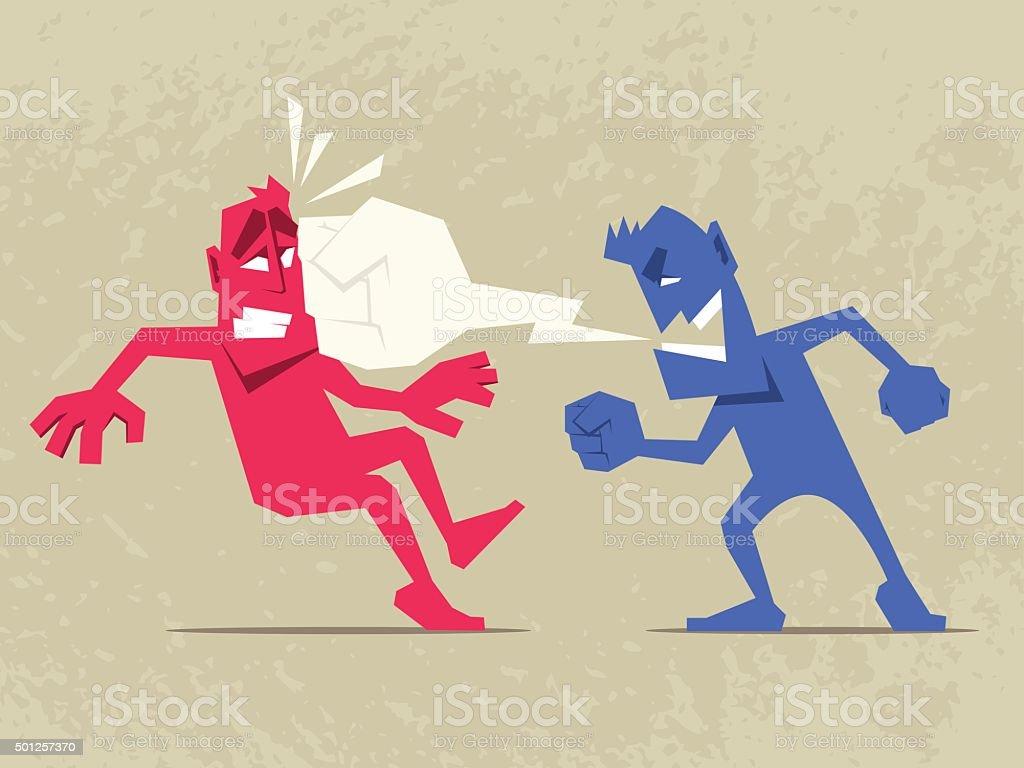 Brutal Dispute. vector art illustration
