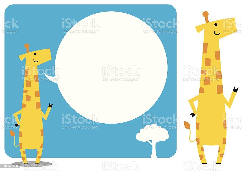 bubble and giraffe royalty-free stock vector art