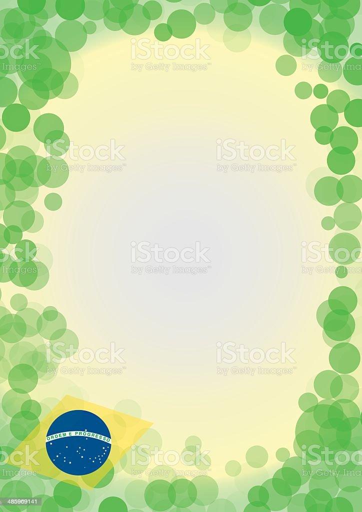 bubble brazil background vector art illustration