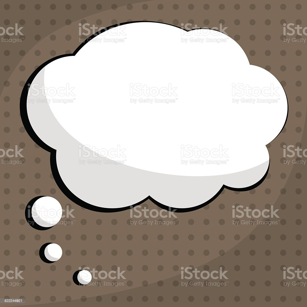 Bubble for speech vector art illustration