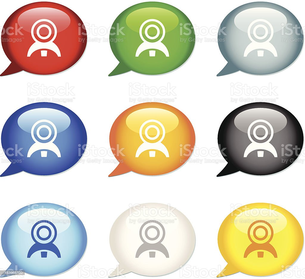 'Bubble' Icon Series | Web Camera royalty-free stock vector art