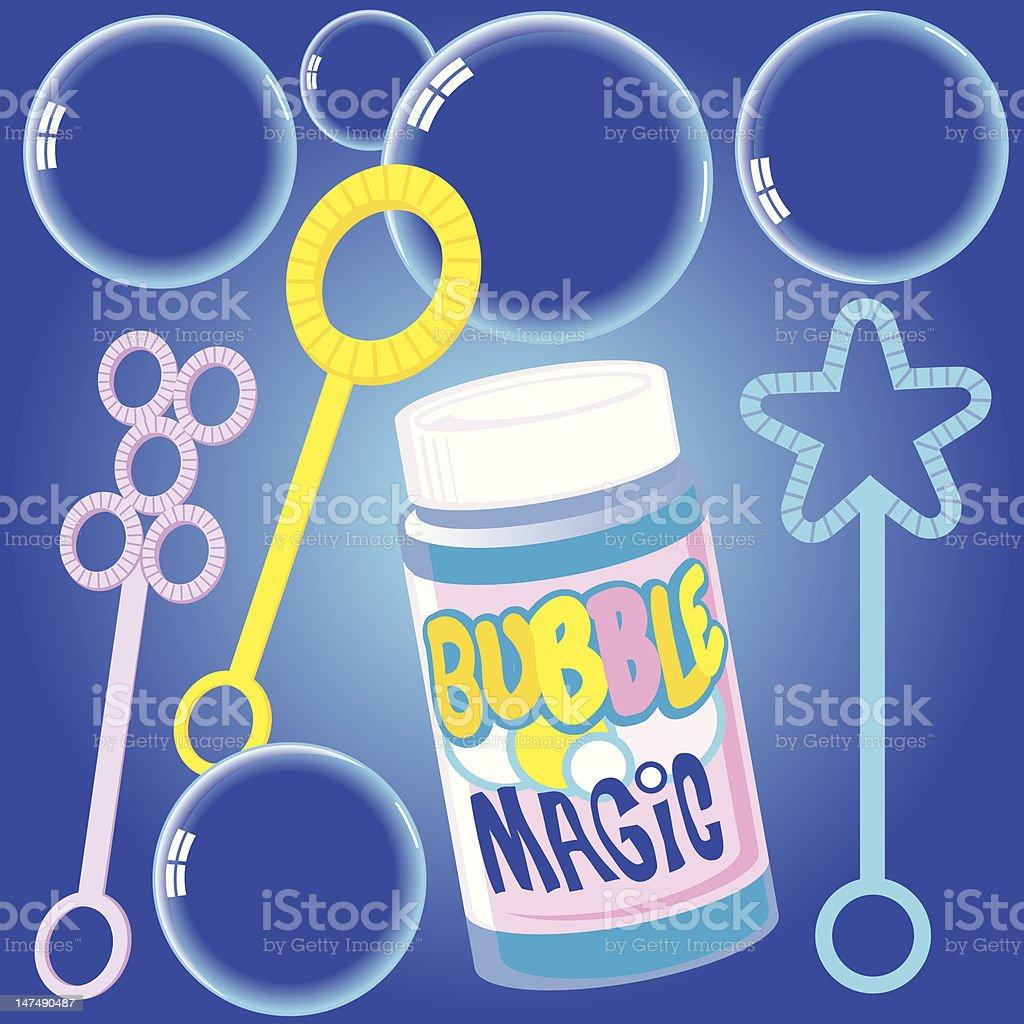 Bubble Magic royalty-free stock vector art