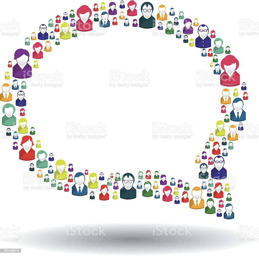 Bubble of communication vector art illustration