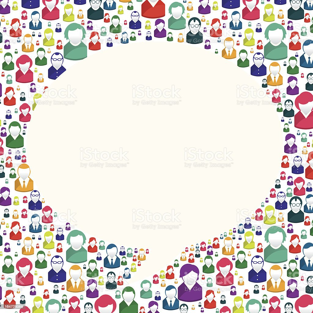 Bubble of communication royalty-free stock vector art