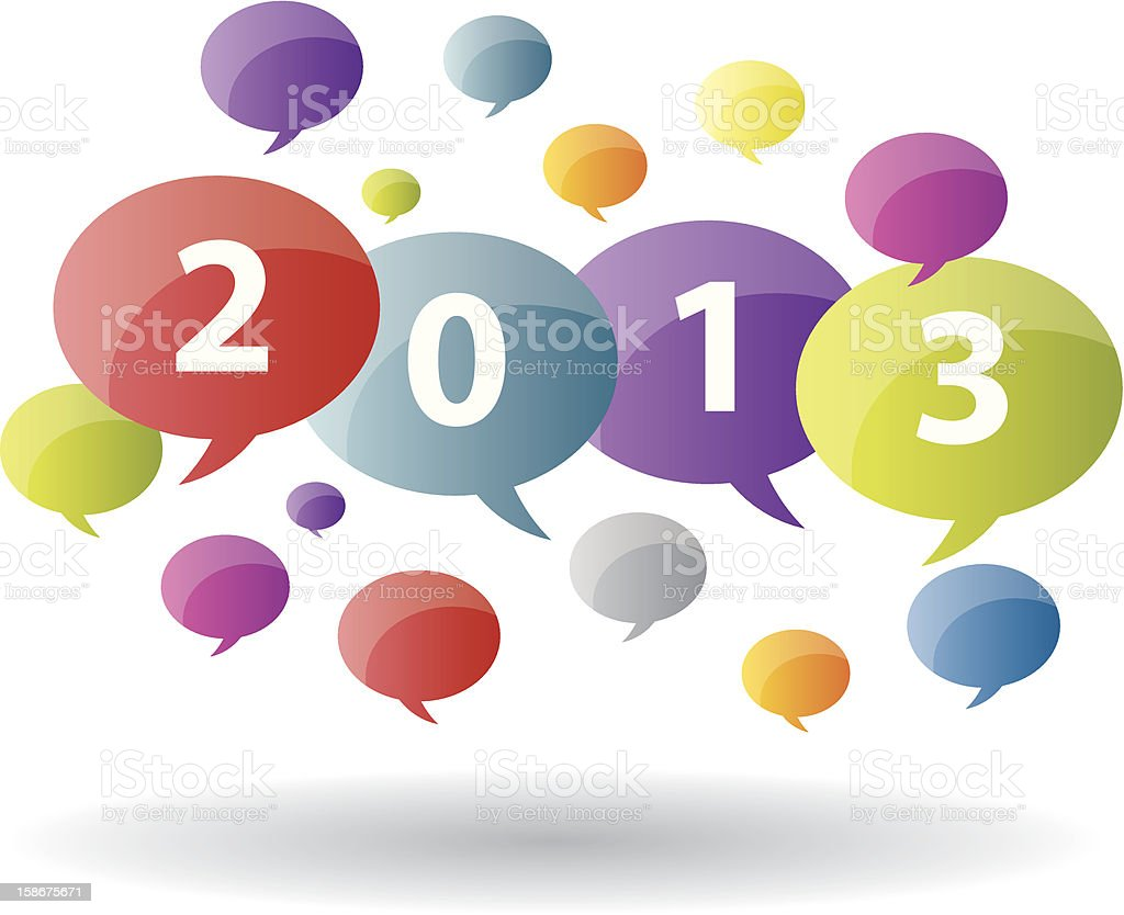 Bubble of year 2013 royalty-free stock vector art