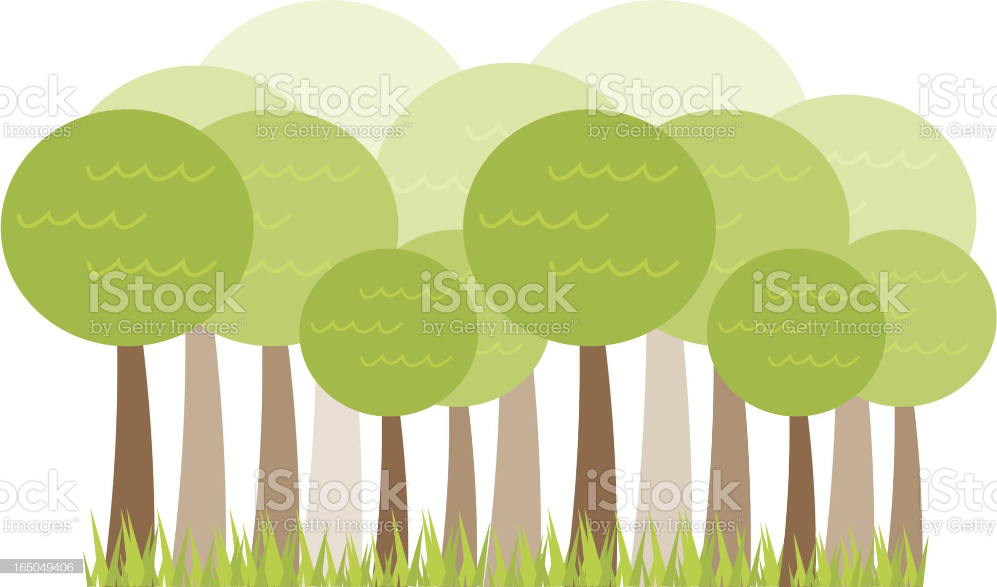 Bubble Tree Forest royalty-free stock vector art
