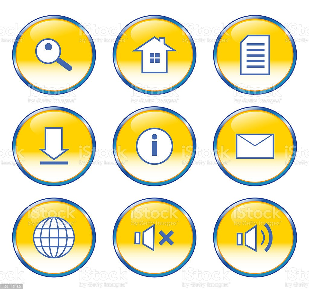 bubble web icon set... royalty-free stock vector art