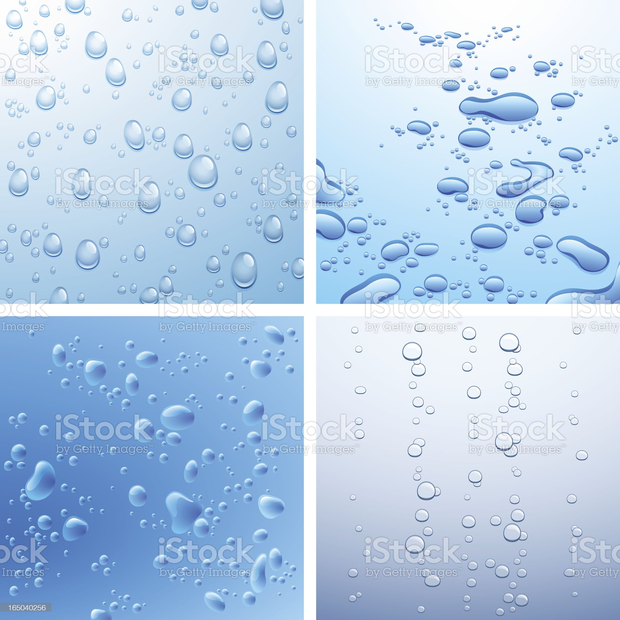 bubbles and droplets royalty-free stock vector art