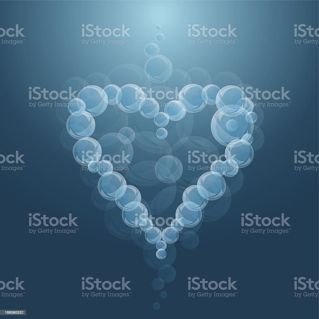 bubbles heart royalty-free stock vector art
