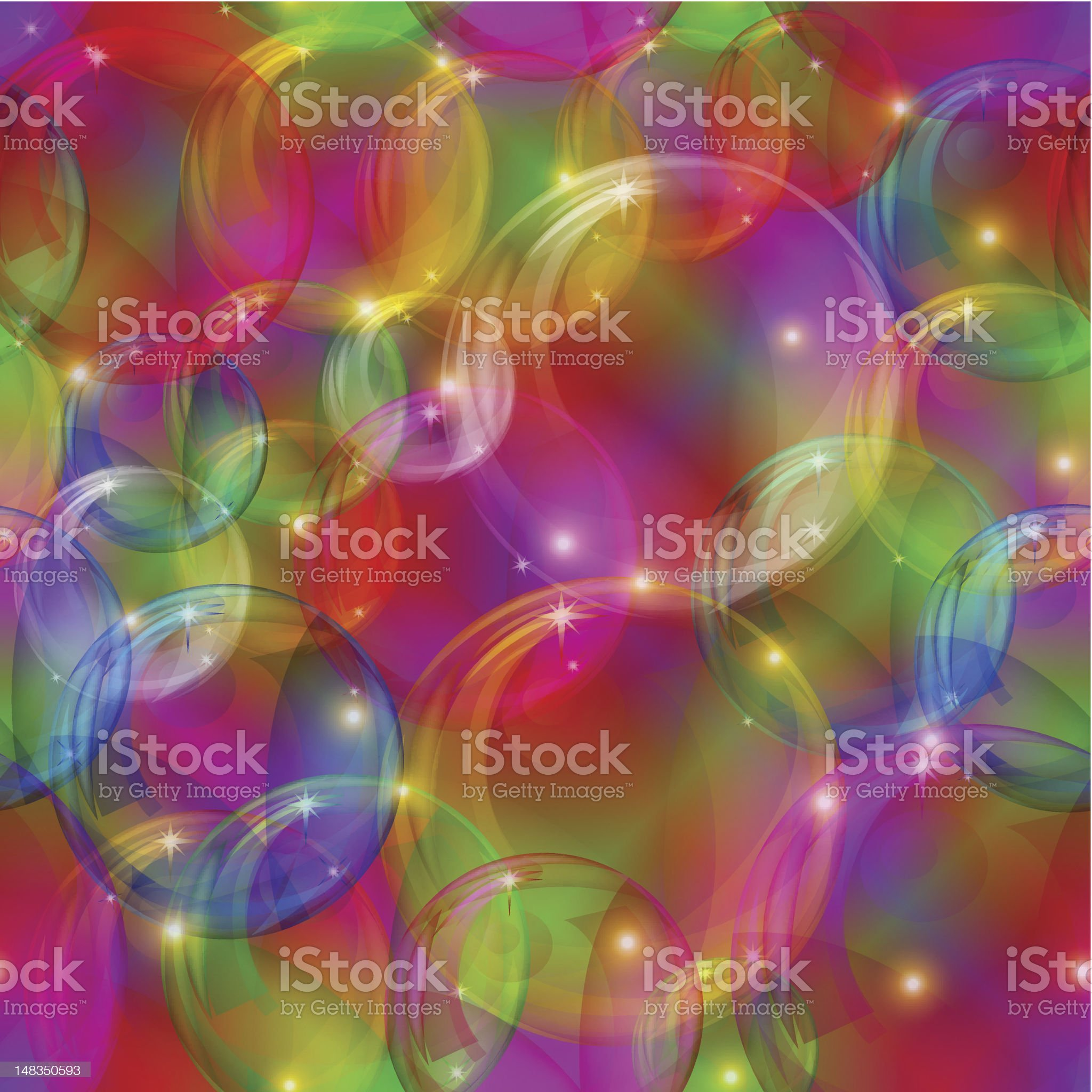 Bubbles seamless motley royalty-free stock photo