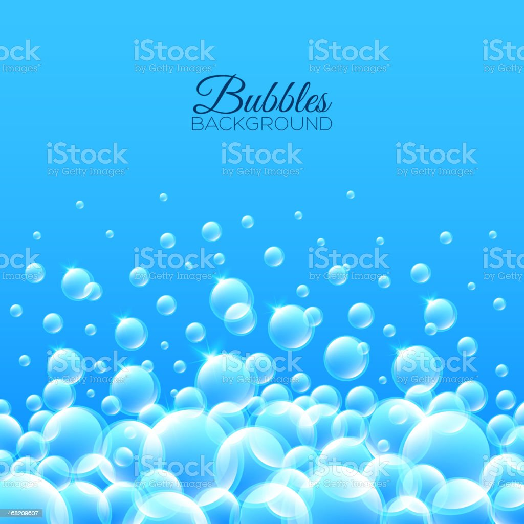 Bubbles Underwater Background vector art illustration