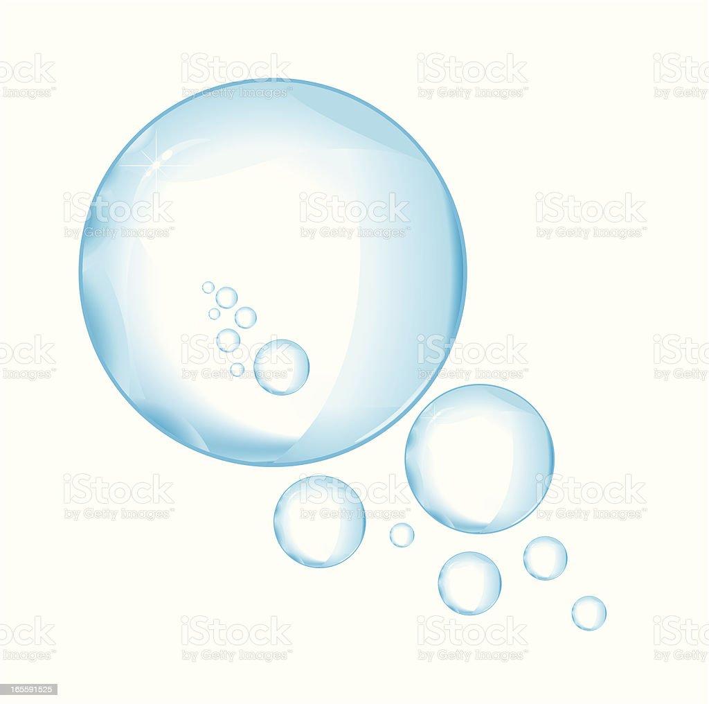 Bubbles vector art illustration