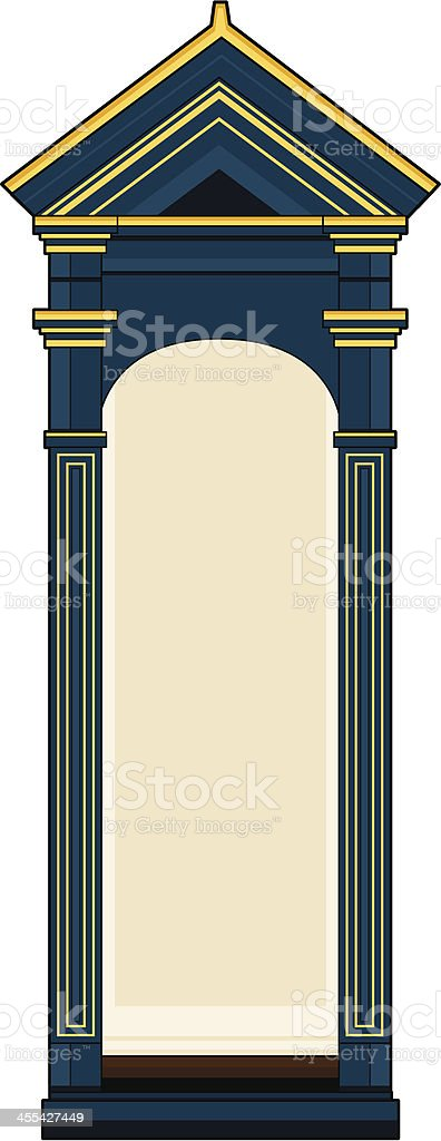 Buckingham Palace Guardsmans Post royalty-free stock vector art