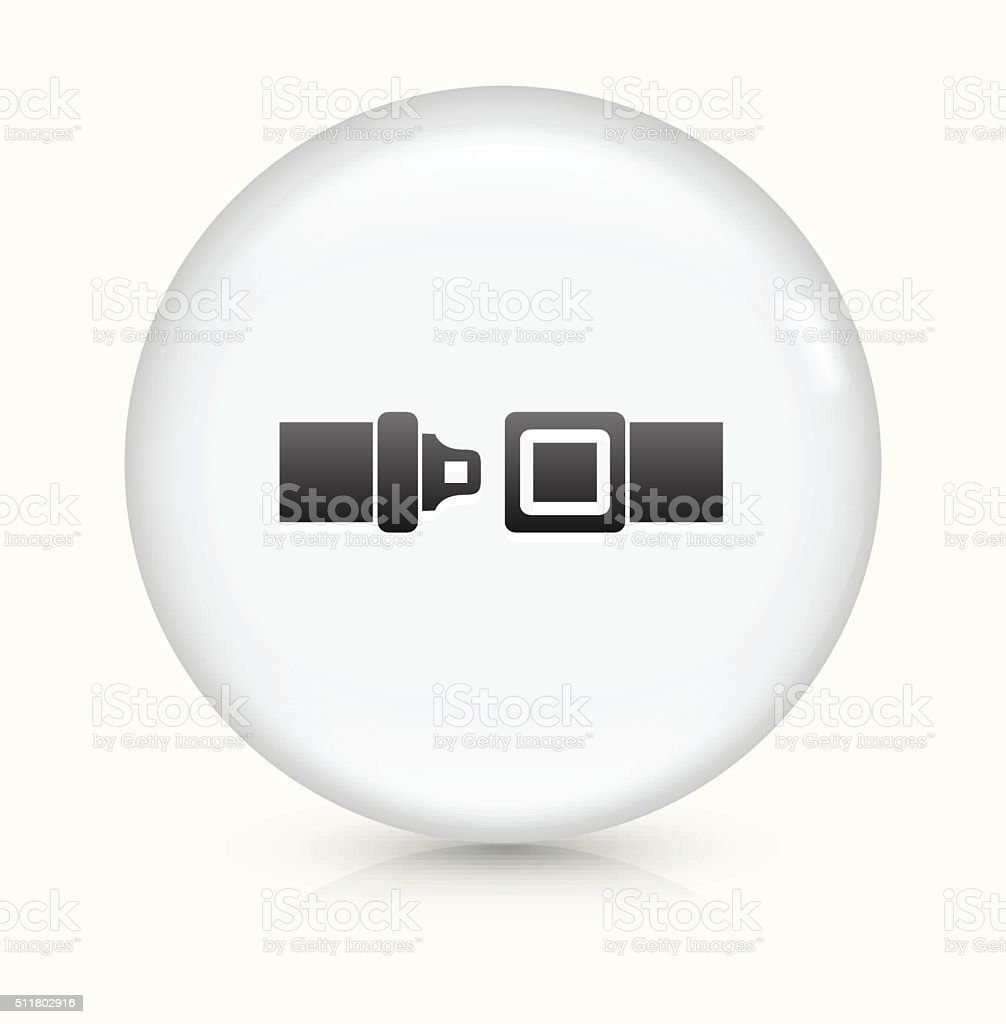Buckle Up icon on white round vector button vector art illustration