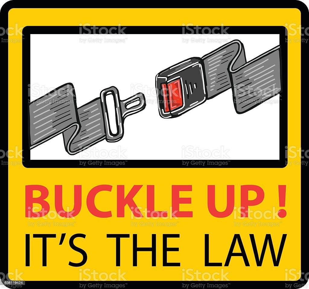 Buckle up seat belt sign vector illustration clip-art vector art illustration