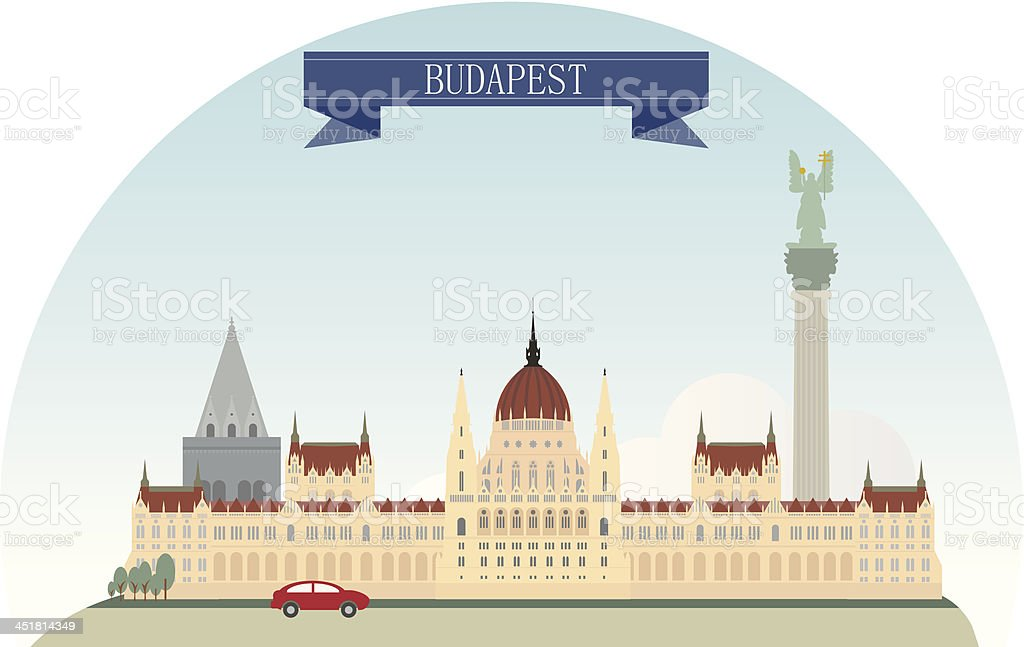Budapest royalty-free stock vector art