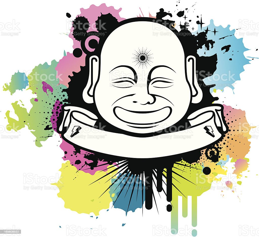 buddha dirty emblem royalty-free stock vector art