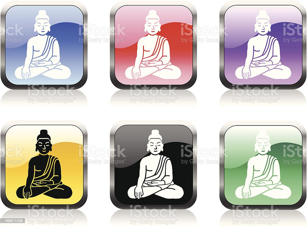 Buddha icons royalty-free stock vector art