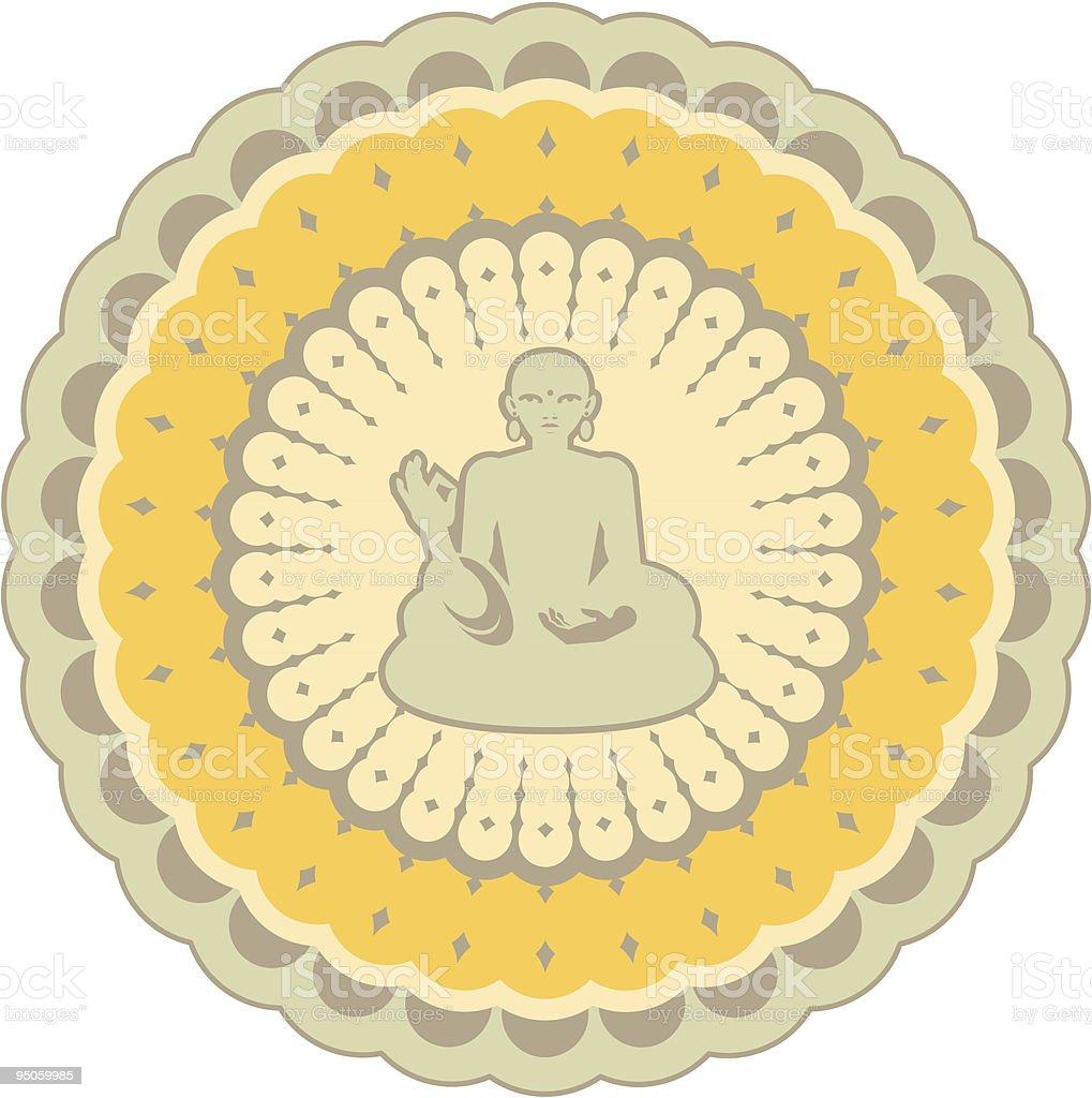 buddha mandala royalty-free stock vector art