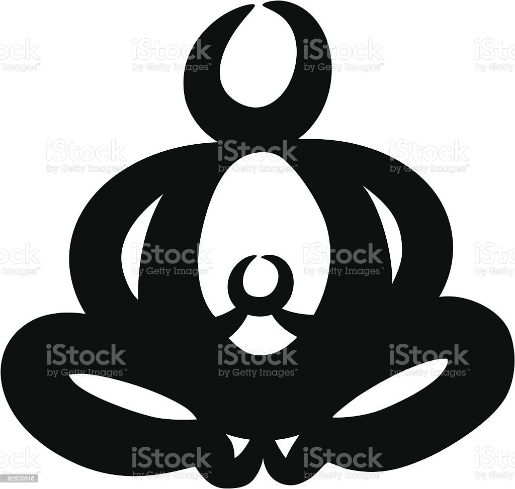 Buddha Mom royalty-free stock vector art