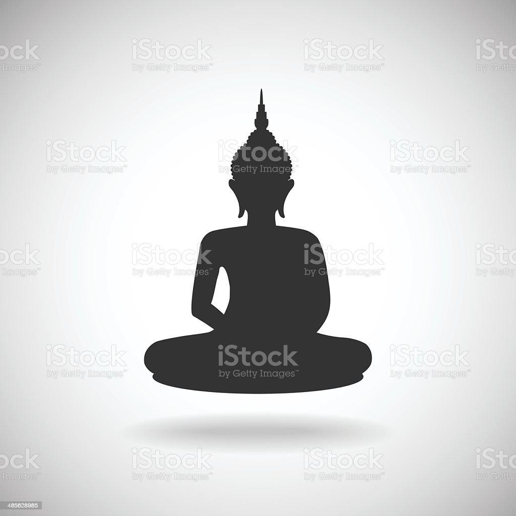 Buddha silhouette royalty-free stock vector art