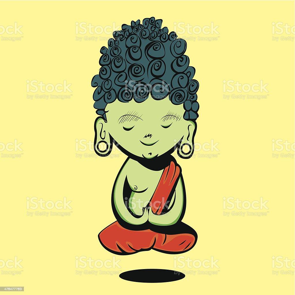 Buddha vector art illustration